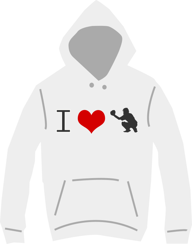 I love baseball hoodie by shokunin - hooded jumper with I love baseball logo