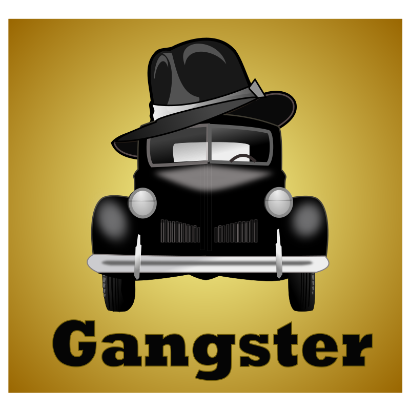 gangster-illustration by netalloy - remixed with classic-car by netalloy