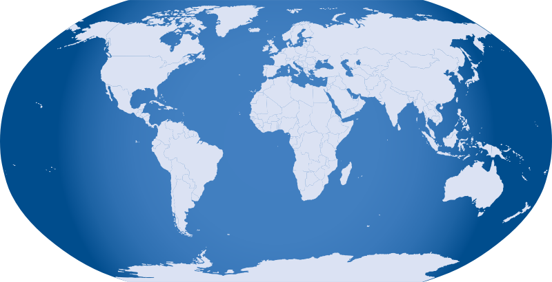 Blue World Map by neocreo - Map of the world in blue. Because it looks good.