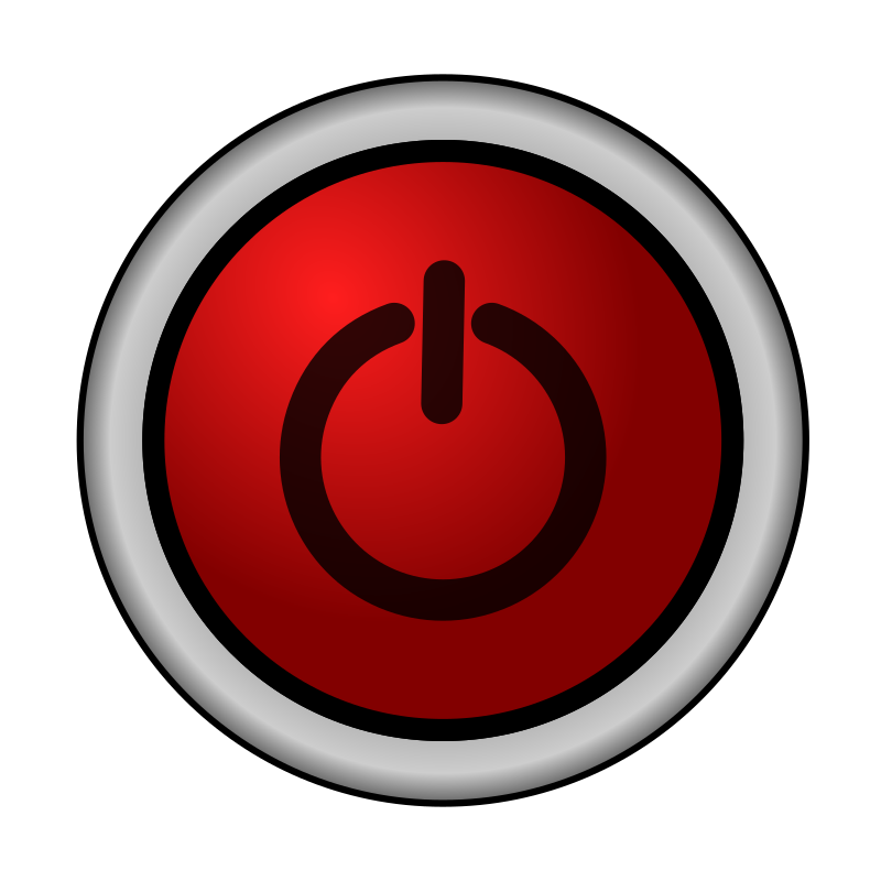 Clipart - Power On/Off Switch red 2