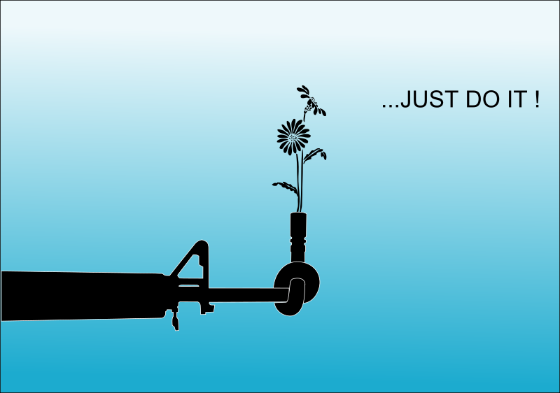 Just Do It ! by Chrisdesign - Here is my first remix / Clipart / wallpaper with one message ! I`ve started a Humanity Wallpaper Contest in the german Inkscape forum. Now i share this. Peace