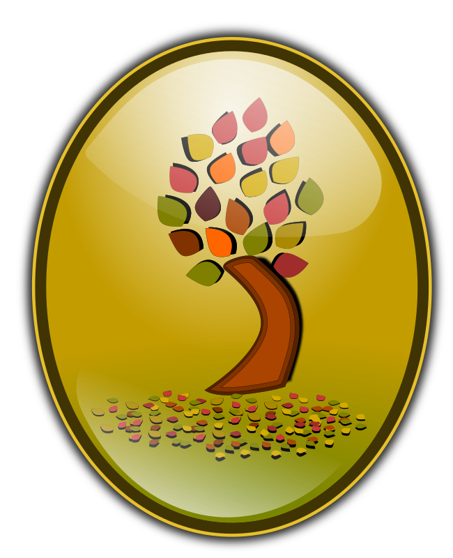 Fall 2010 Bage, logo by inky2010 - 3D badge, logo of Fall tree