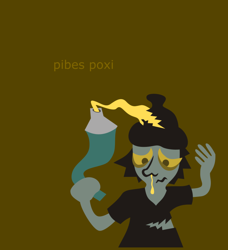 Pibes Poxi by Morc Peyton - A sinthetic and metaphoric representation of the argentinean poor youths.