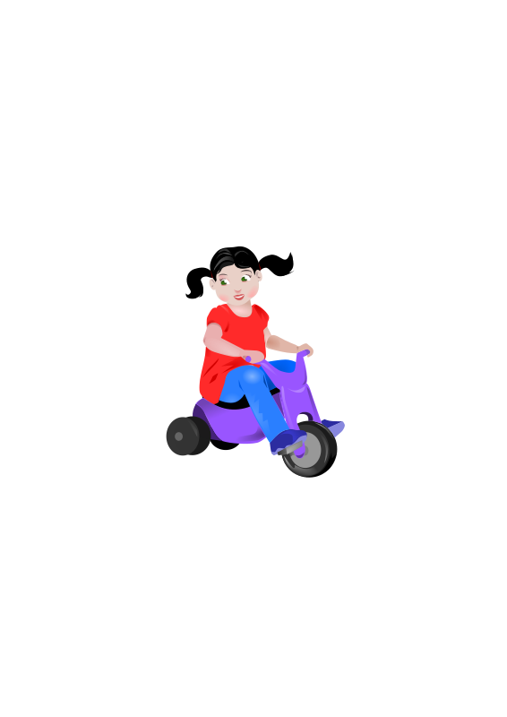 Toddler On Trike  by wildchief - a little girl on a tricycle