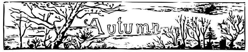 "Autumn header by johnny_automatic - from ""Through The Year, Spring Summer Autumn Winter"" by EP Dutton & Co"