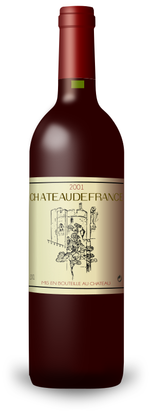 French Wine Bordeaux Bottle by filtre - This is a french wine Bordeaux bottle. Enjoy!