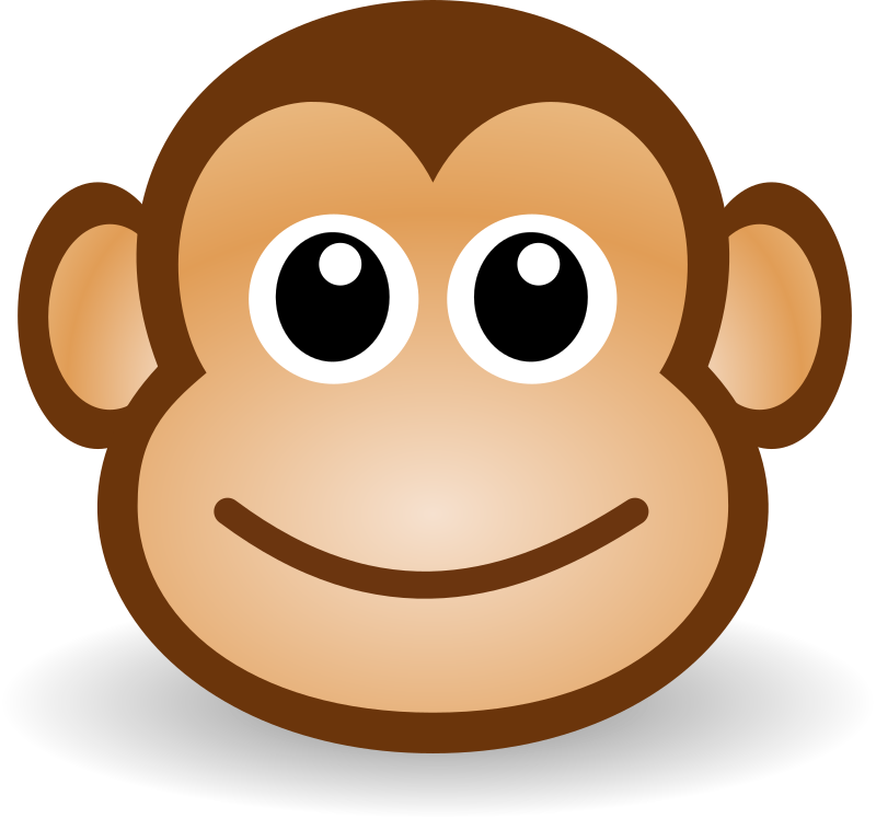 Monkey face clipart illustration