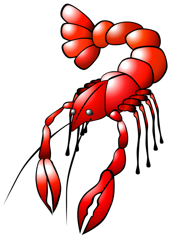 Clipart - Crawfish