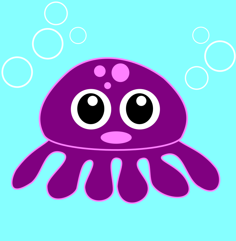 funny octopus by Martouf - A funny octopus with big eyes.