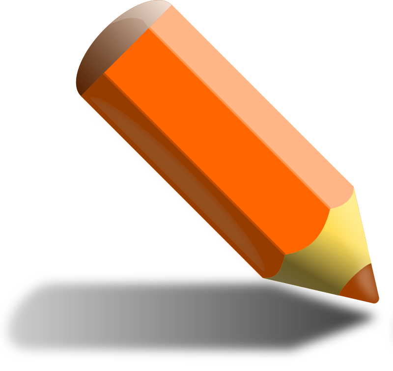 Orange pencil by binameusl -