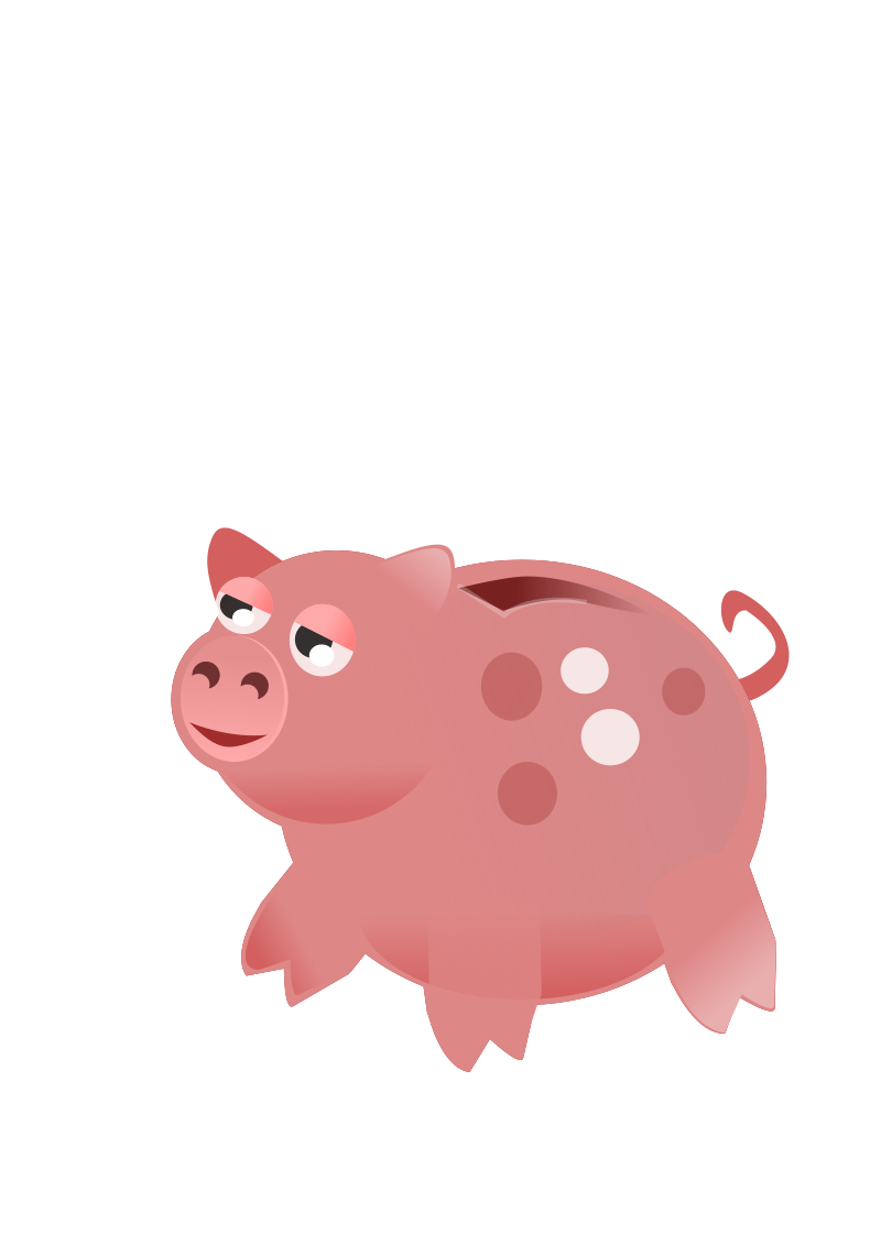 Piggy Bank by wildchief - A piggie bank drawn for my portfolio website but not really used