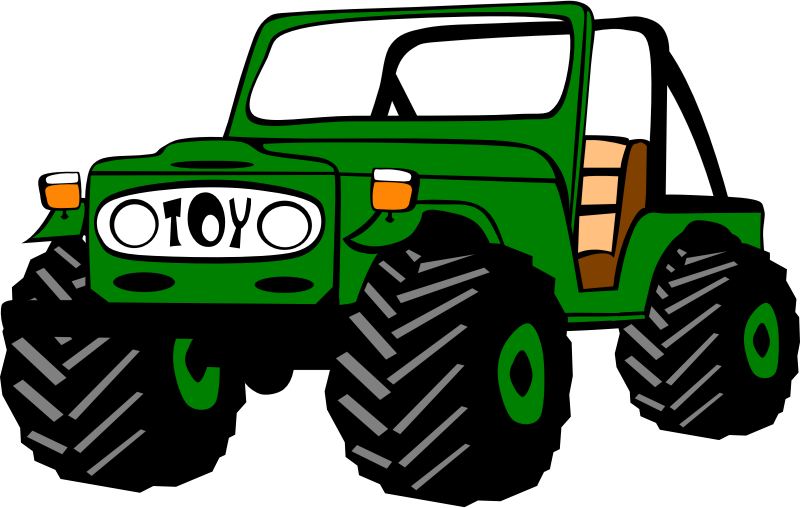 Toyota Land Cruiser by Gerald_G - Green jeep with big tires.