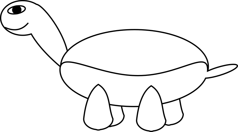 TortoiseStage3 by TomBrough - Cartoon smiling tortoise stage3 working on shell and tummy