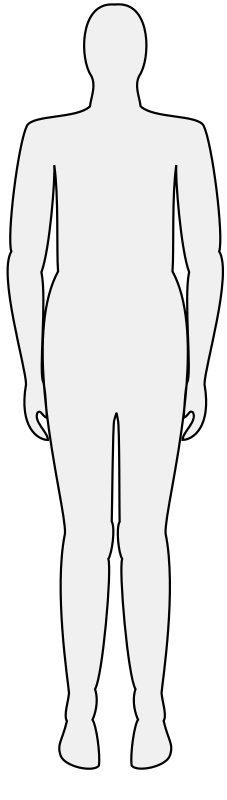 Male body silhouette by mlampret - Remix of Male body silhouette, this one is symmetrical.