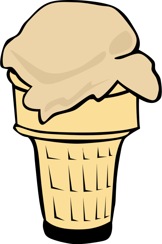 "Fast Food, Desserts, Ice Cream Cone, Single by Gerald_G - This Clip Art is part of a fast food menu set. Search for ""fastfood"" to find all."