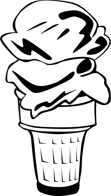 "Fast Food, Desserts, Ice Cream Cone, Double by Gerald_G - This Clip Art is part of a fast food menu set. Search for ""fastfood"" to find all."