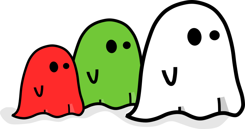 Three colored ghost by Kib - Three little ghost