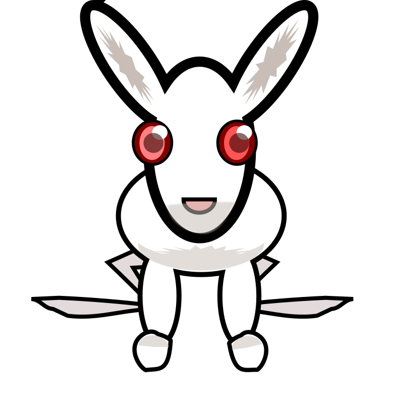 white_rabbit by feraliminal - Stylized white rabbit, hacked out very quickly.