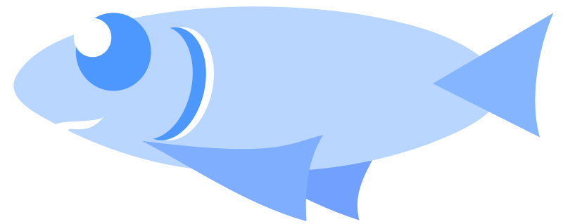 Ordinary fish by mlampret - Blue fish with big eyes