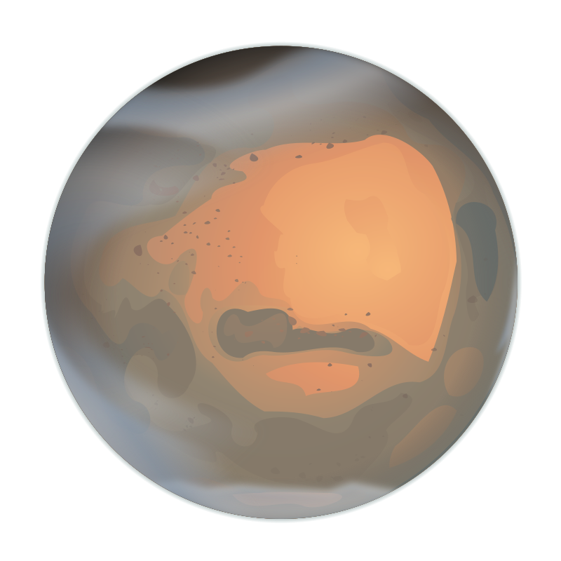 Mars by DooFi - Uses Blur and a Clip Path for the clouds. If you squint and stare at it for a while, you may also notice that bitmap tracing was used at some point.