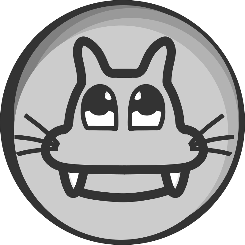Cat'Badge by Kib - A black and white badge with a cat.