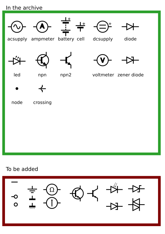 Clipart Iec Electronic Circuit Symbols