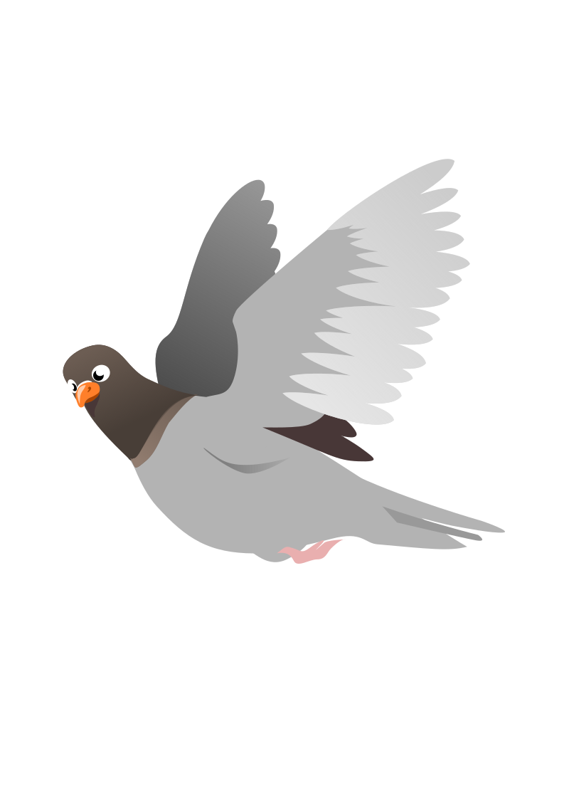 A Flying Pigeon by wildchief - a flying pigeon