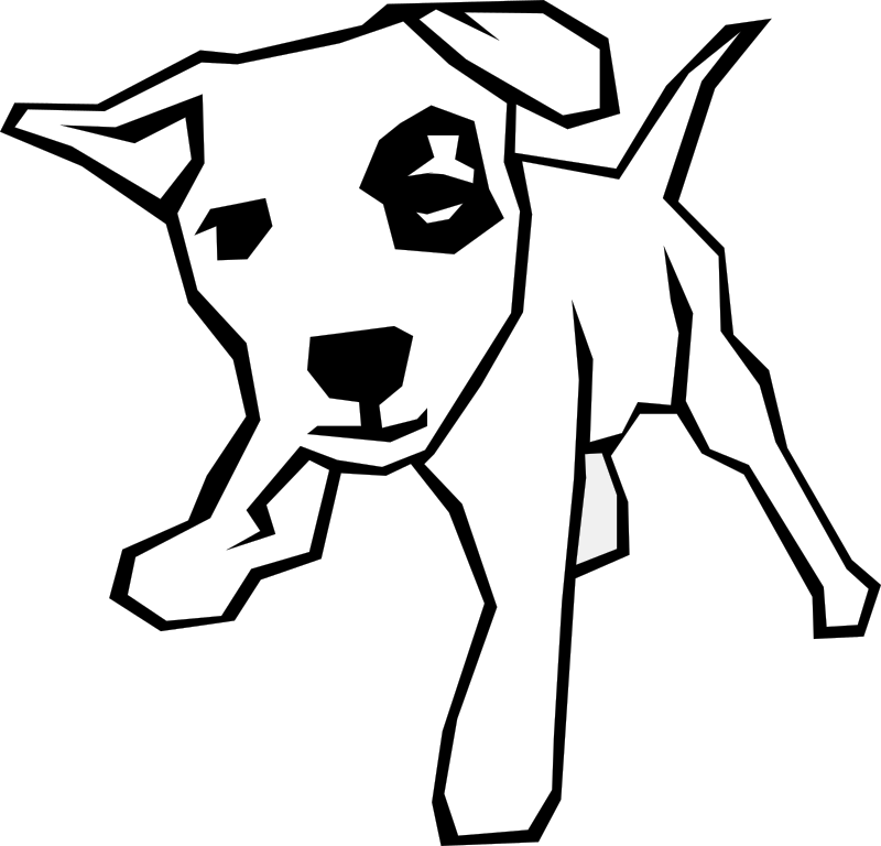 Dog (Simple Drawing) by Gerald_G - Dog (simple drawing).
