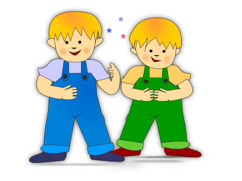 sweet kids by netalloy - Two blond kids which look like brothers.