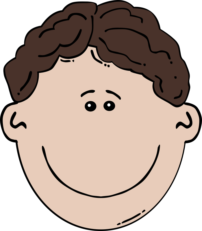 "Boy Face Cartoon by Gerald_G - Uploaded by ""World Label"" for conversion to SVG and publication on OCAL."