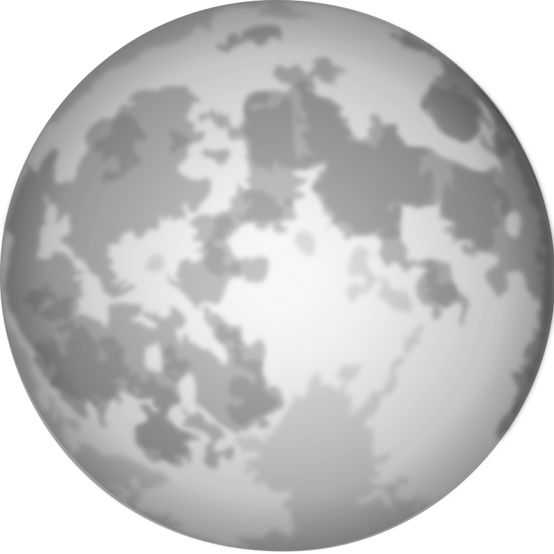 Halloween Bright Full Moon by cgbug - Halloween Bright Full Moon Grayscale