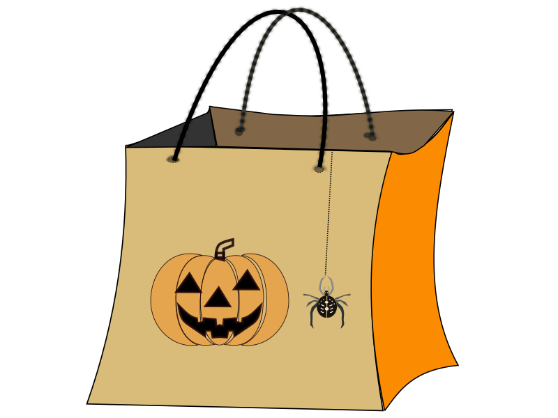 TRICK OR TREAT BAG by netalloy - Halloween Clip Art by Net Alloy