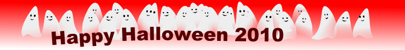 Halloween banner by netalloy - An halloween banner from 2010 with ghosts.