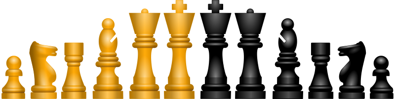Chessfigures by Chrisdesign - Today i try to draw this figures in Inkscape only with gradients and without the blur-filter. It works !