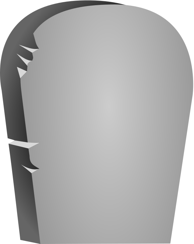 Halloween Rounded Tombstone by cgbug