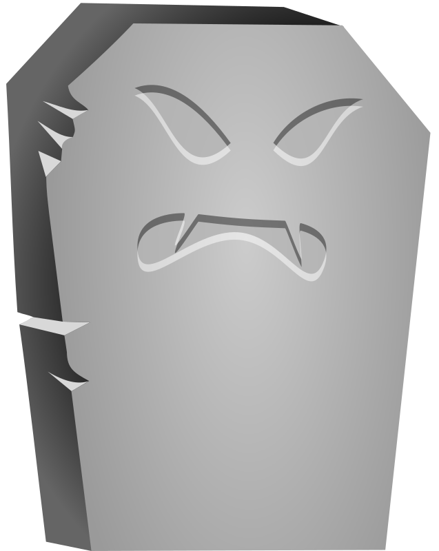 Halloween Tombstone Angry Face by cgbug - Halloween Tombstone Angry Face