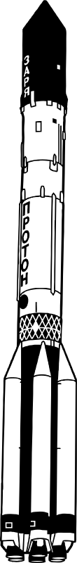 proton rocket by johnny_automatic - A NASA drawing of the Russian Proton rocket from 147266main_3.2.1.Liftoff_Activity11.pdf