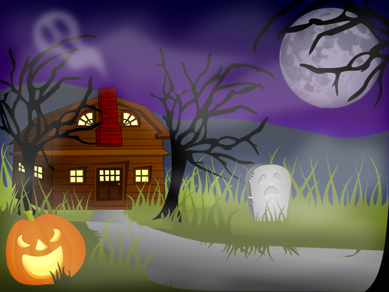 halloween scene clipart - photo #28