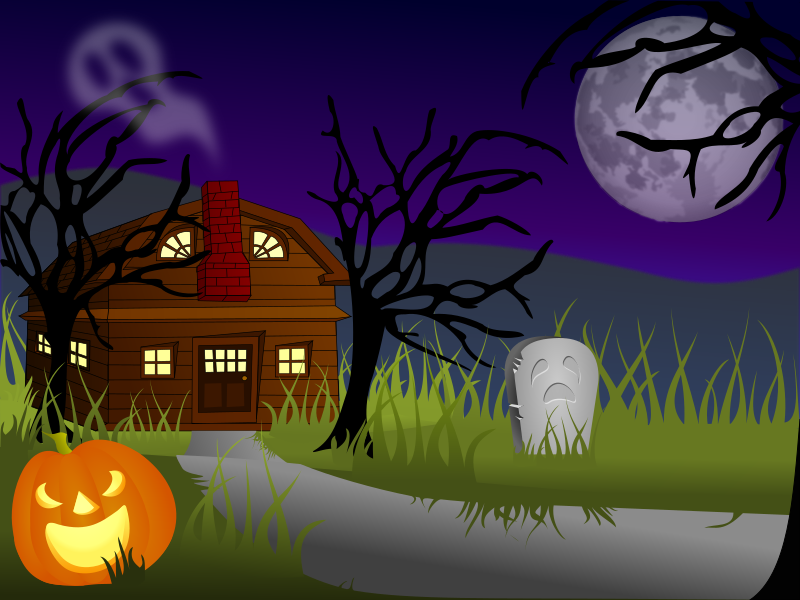 Halloween Haunted House by cgbug