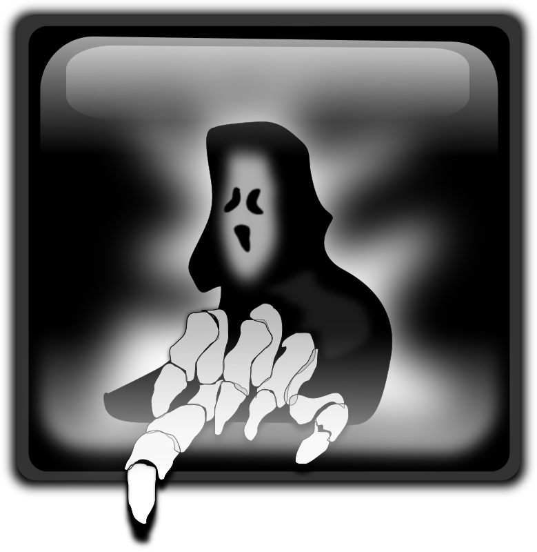 Halloween Ghost by inky2010 - Black shades ghost form...