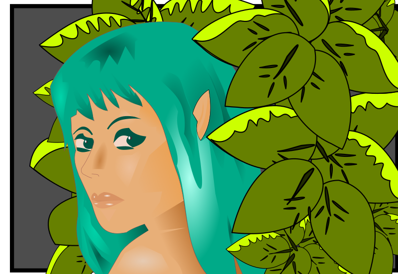 Elf in the forest by Peileppe - svg and 2 png files