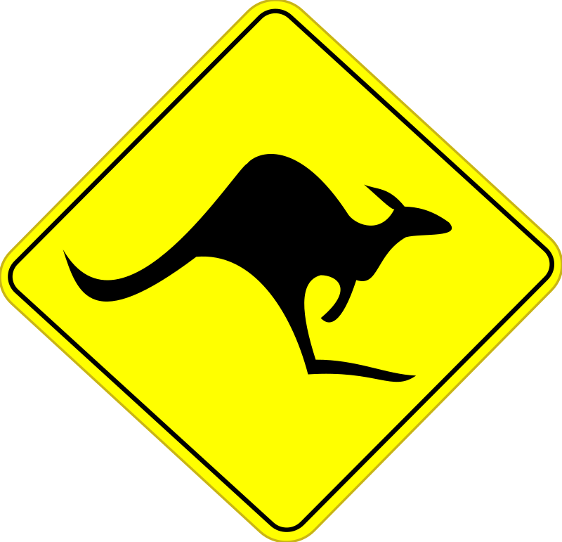 Roo Road Sign by stevepetmonkey