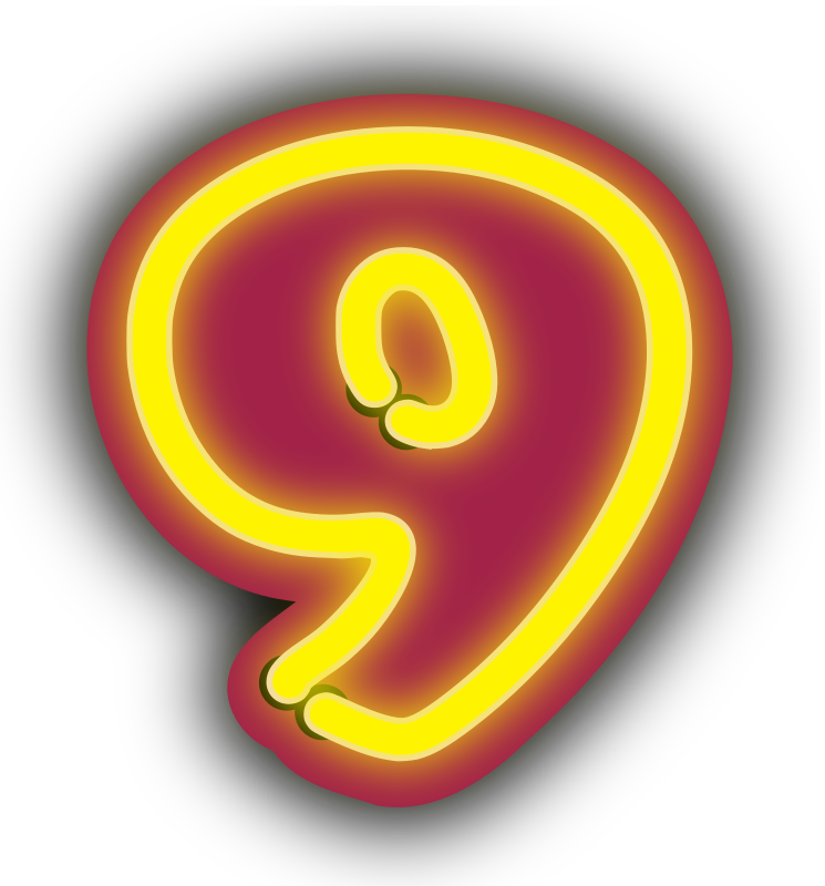 Number nine by binameusl - Number nine with a neon look.
