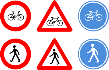 Traffic signs by RobertCailliau - three traffic signs