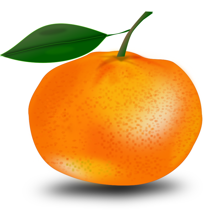 orange by netalloy - An orange or tangerine with a leaf.