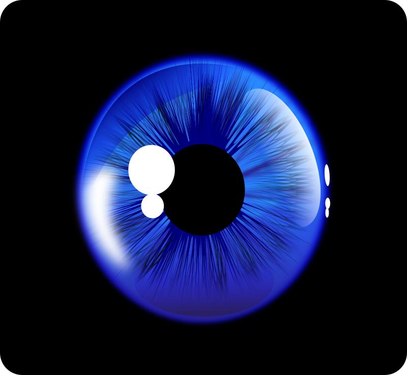 Deep Blue Eye (Inkscape 0.48) by BettoCoutinho - Eye vector drawing in Inkscape 0.48