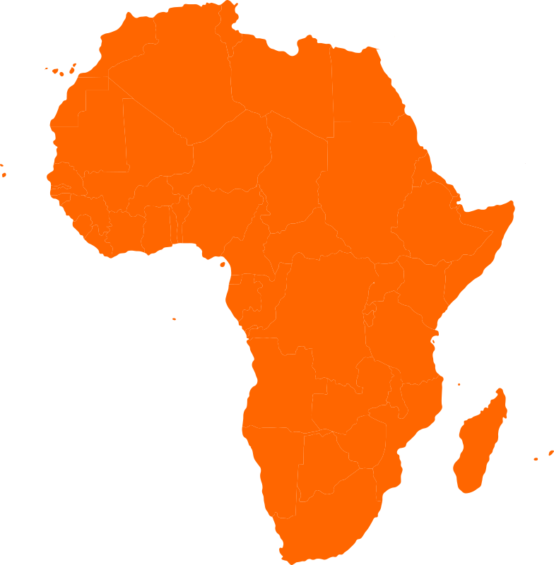 African continent by Iyo - Continental map of Arfica.
