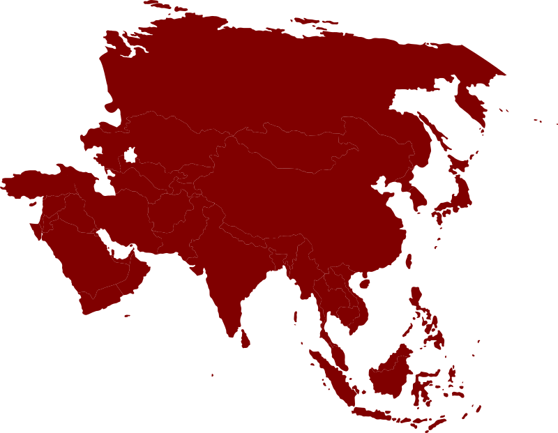 Asian continent by Iyo - Continental map of Asia