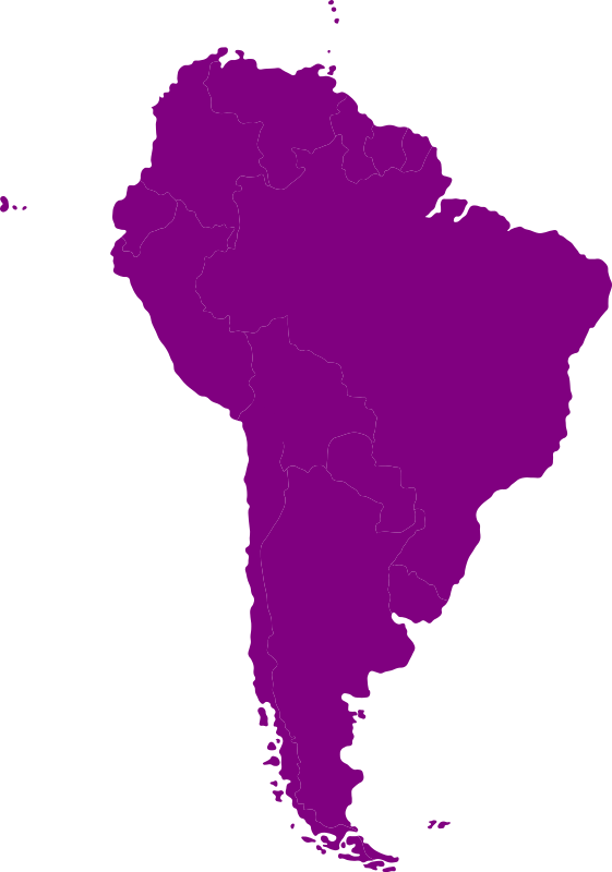 South-American continent by Iyo - Continental map of South-America