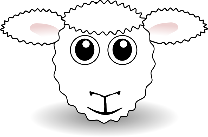 "Funny Sheep Face White Cartoon by palomaironique - Funny Lamb Face White Cartoon - Drôle de petit museau d'agneau blanc - Lustige Lamm Gesicht weiss - Musetto di Agnello divertente bianco (partially remixed from ""Martouf"" work)"